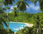 Seychelský atol Aldabra se zálivem