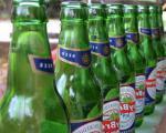 Seychelská láhev piva